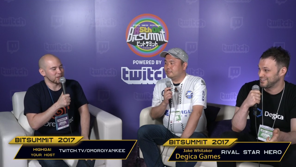 Degica on the BitSummit Twitch stream